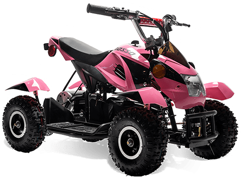 eQuad S Pink 500W ATV 4 Wheeler for Girls