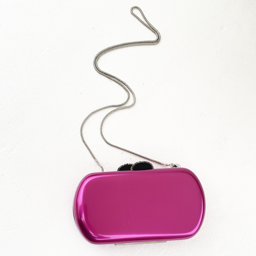 Clutch metacrilato fucsia