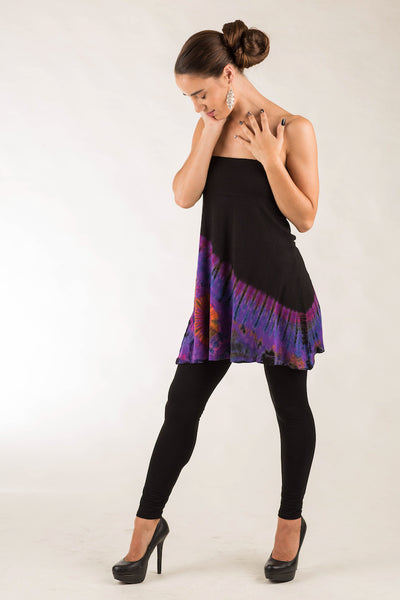 Knee Length Skirt, Half Tie Dye