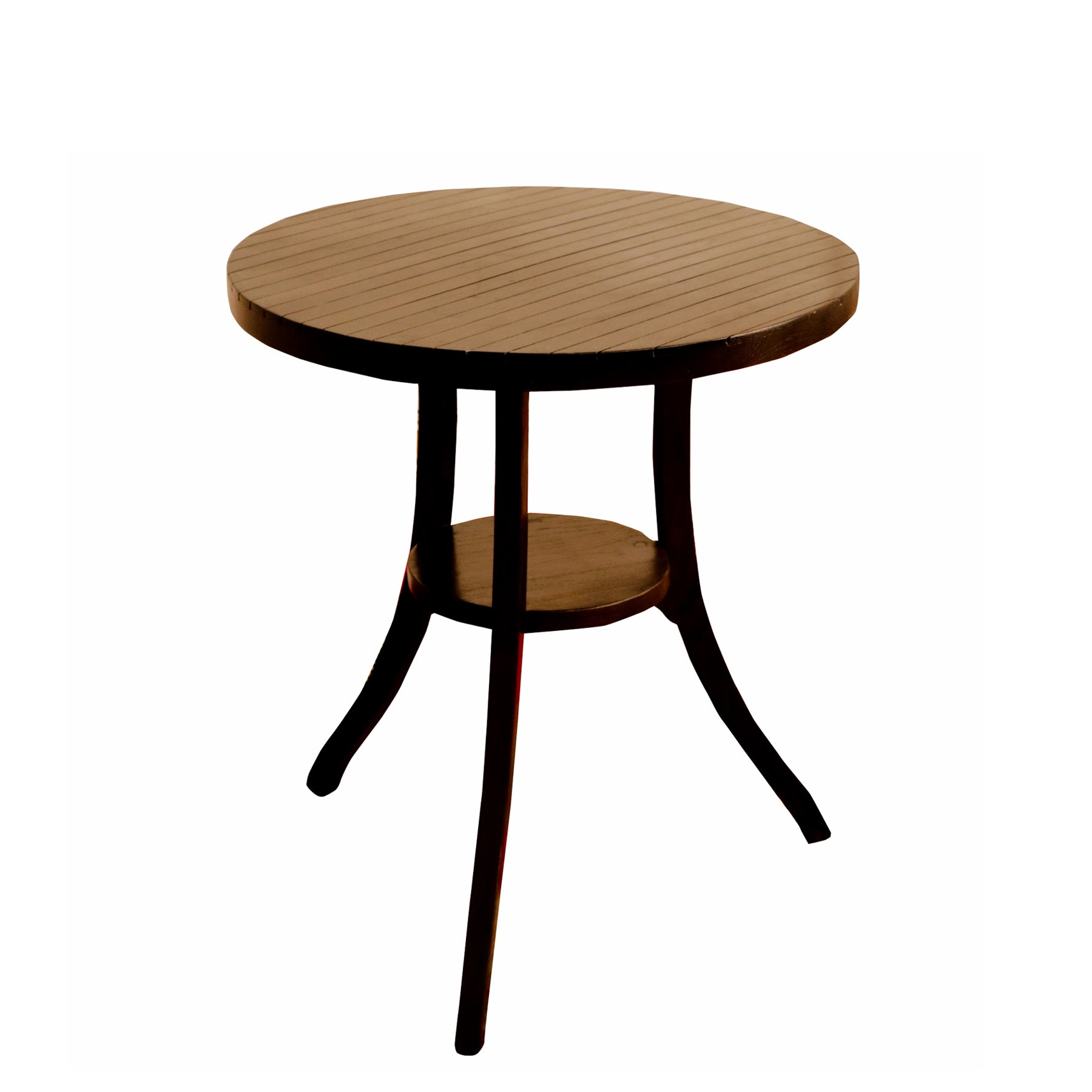 Top Mid Round Corner Table With Dark Finish