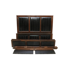 Designer Bed in Dark Brown Finish - Woodsala