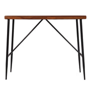 Metal and Teak Console Table - Woodsala