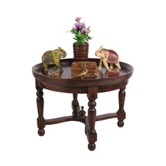 Country Wood Black Accent Table - Woodsala