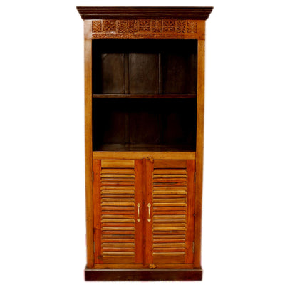Shutter Solid Wood Display Cabinet - Woodsala