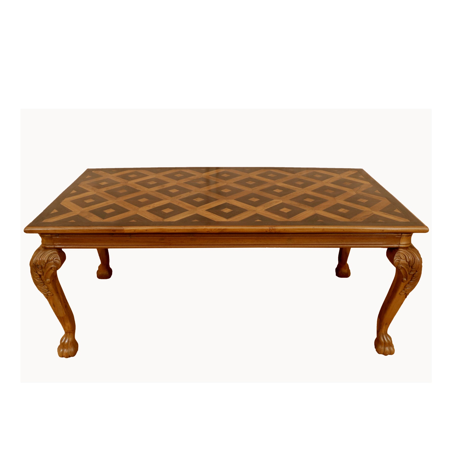 Teak Wood Inlay design Large Dinning Table