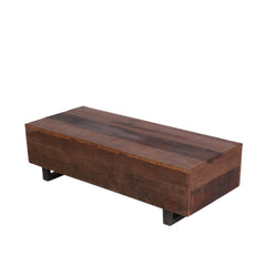 Country Wood Long Coffee Table - Woodsala