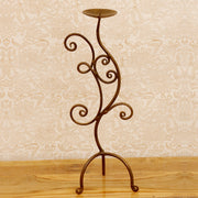 Stylish S-Shape Iron Candle Stand - Woodsala