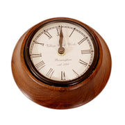 Antique Small Round Wood Wall Clock - Woodsala
