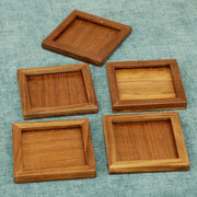 Teak Wood Tea Coaster (Set of 5) - Woodsala