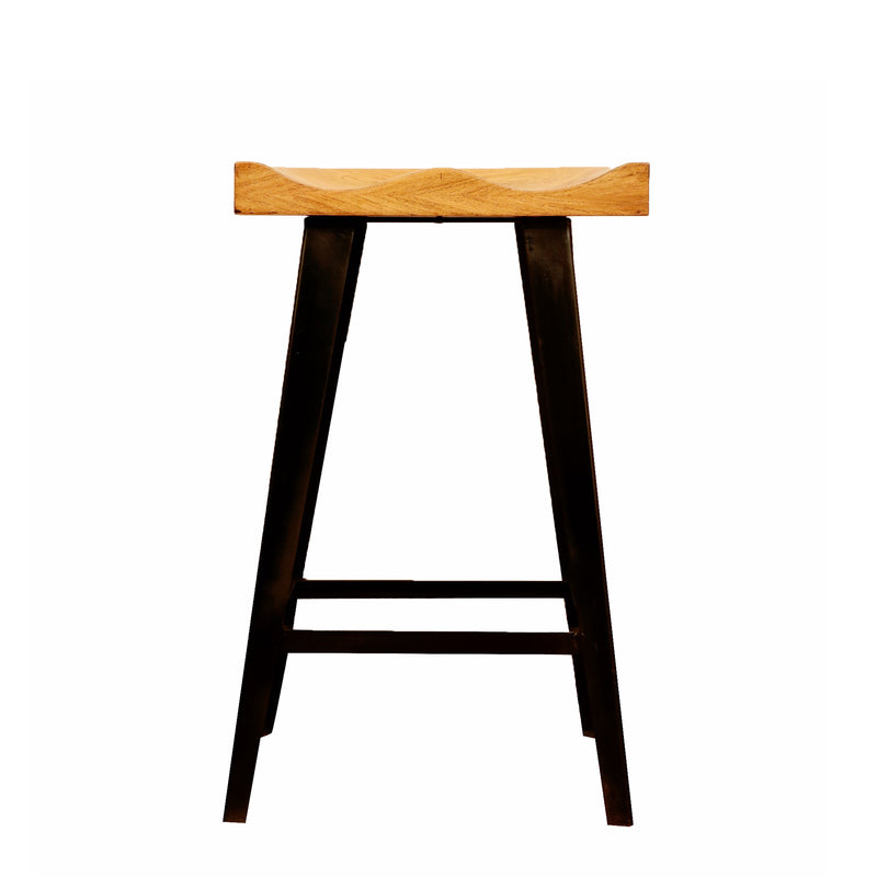 Asymmetrical Edge Bar Stool - Woodsala