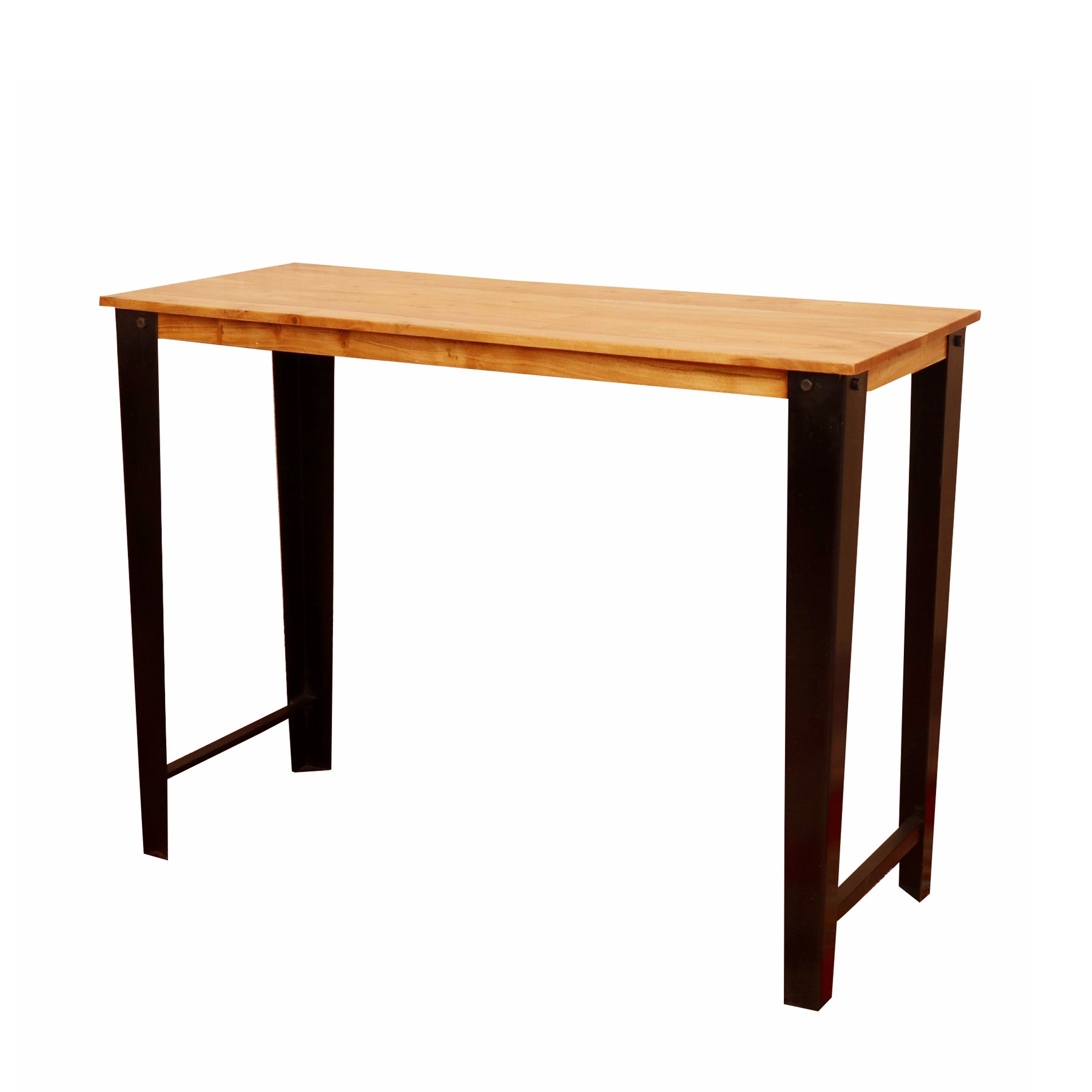Wood and Iron Small Dinning Table