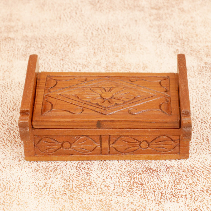 Solid Wood Carved Box - Woodsala