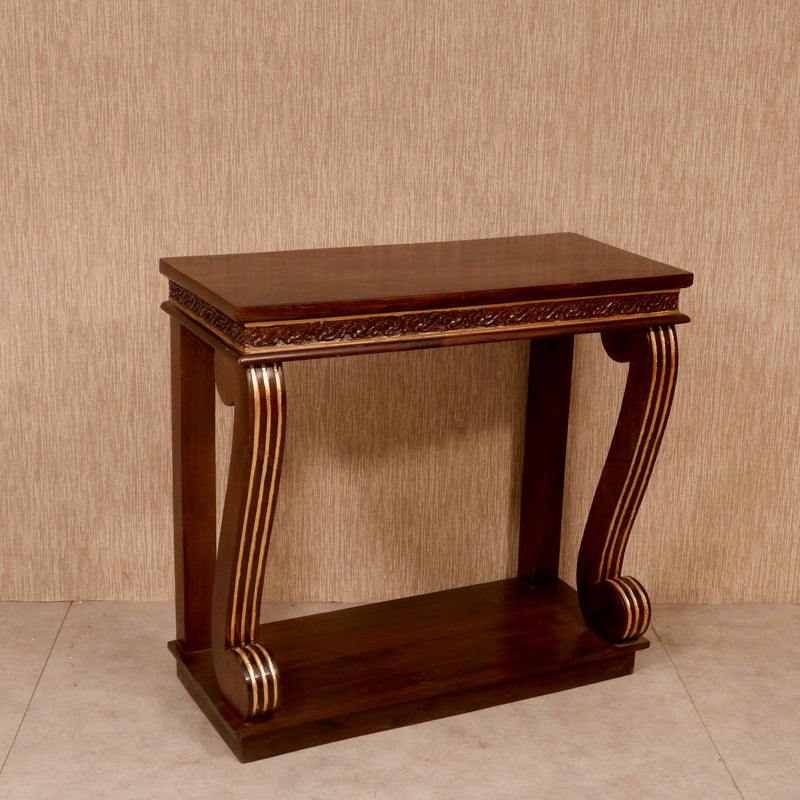 Wooden Curvy Console Table