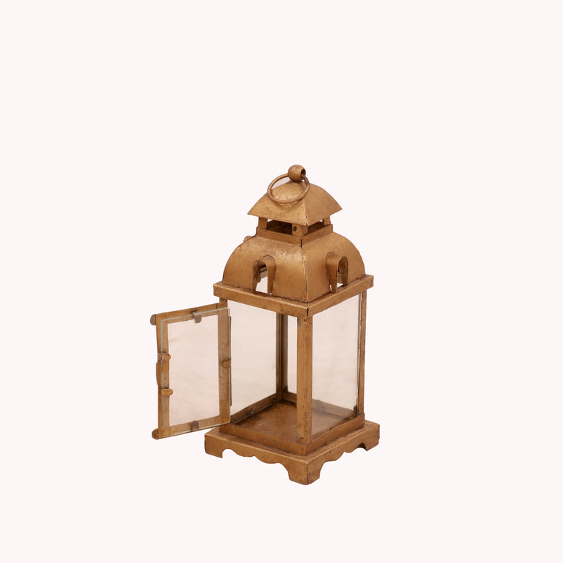 Rustic Gold Hued Lamp - Woodsala