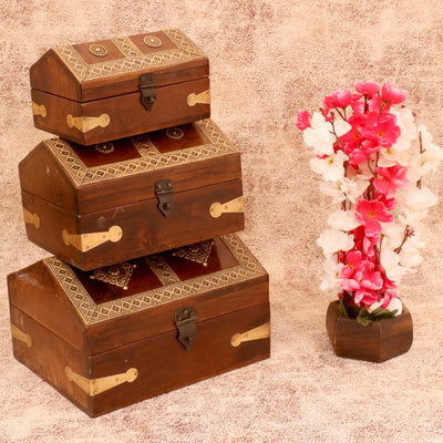 Wooden Rustic House Boxes - Woodsala