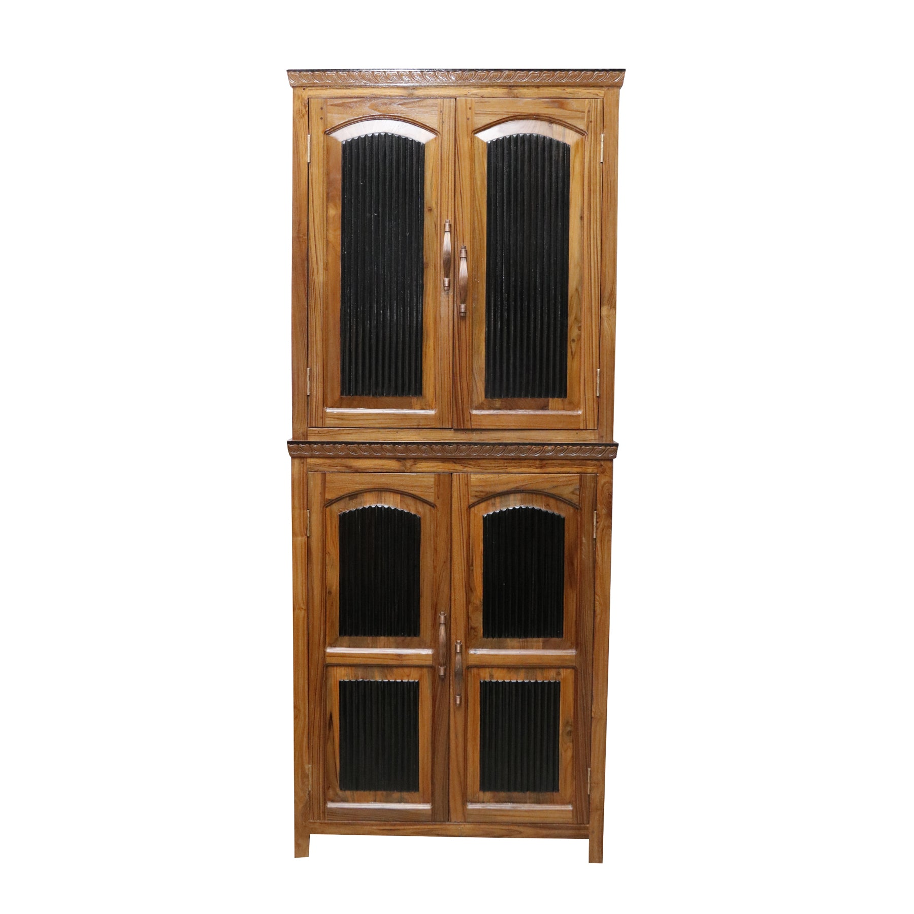 Stylish Wooden Display Cabinet with 2-Compartments