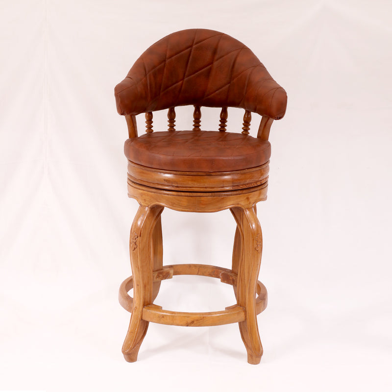 Rounded Royal Bar Stool - Woodsala