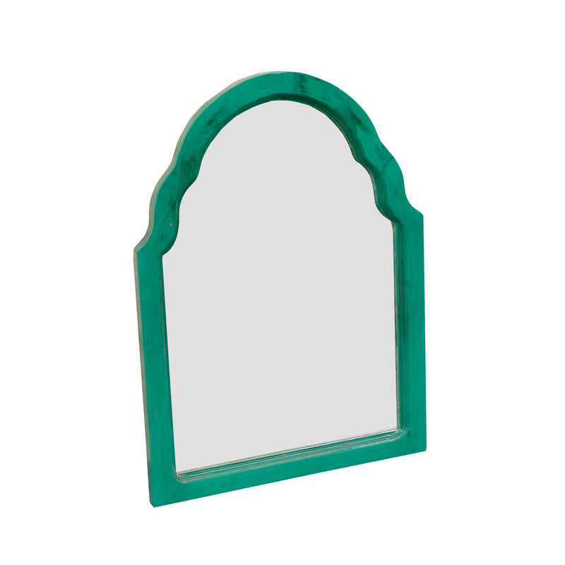 Green Colored Wall Mirror - Woodsala