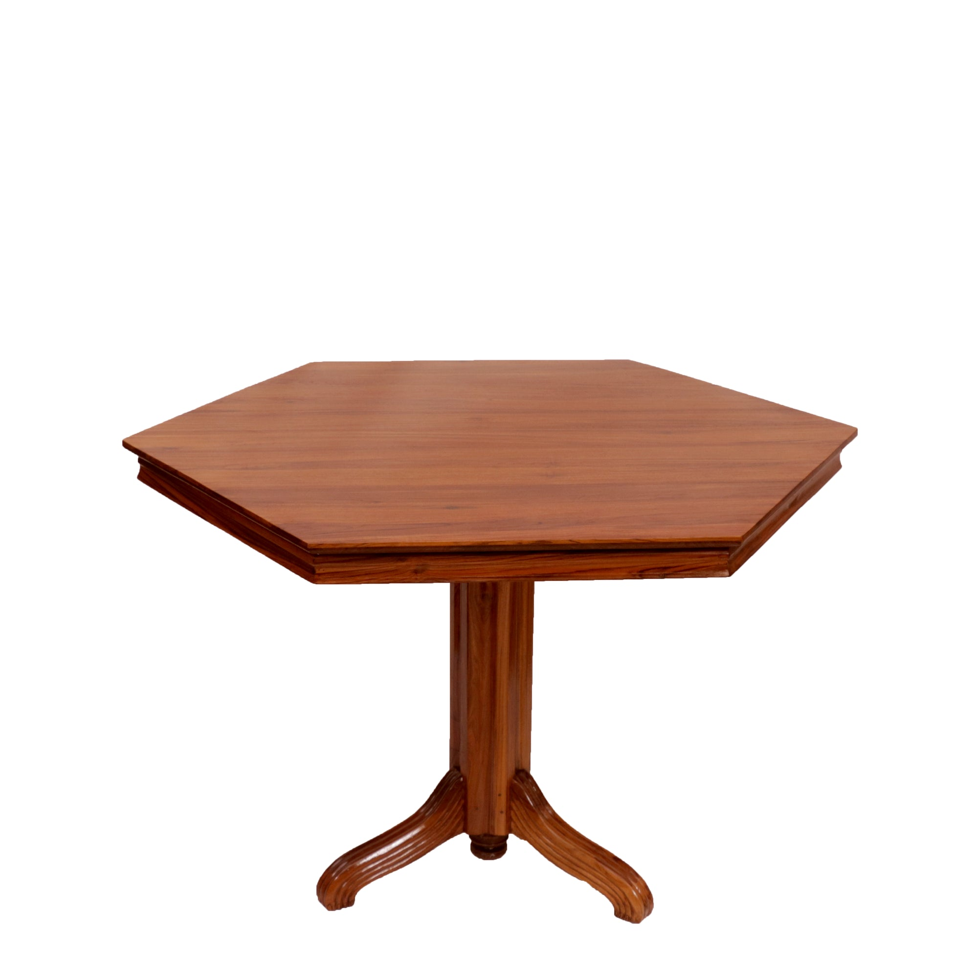 Hexagonal Teak Wood Dining Table