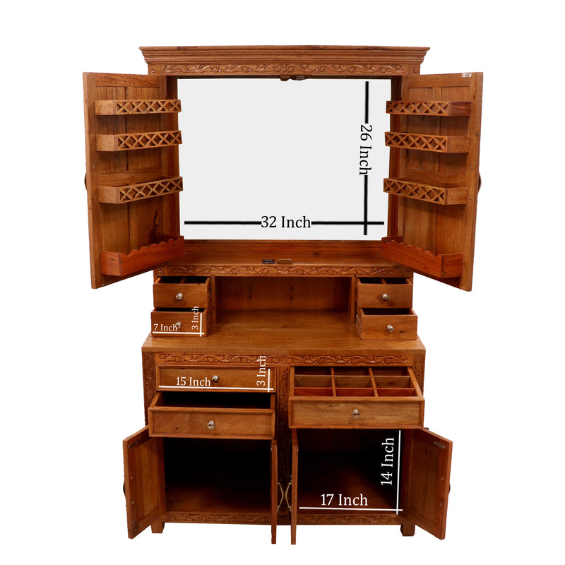 Solid Wood Regal Dressing Table