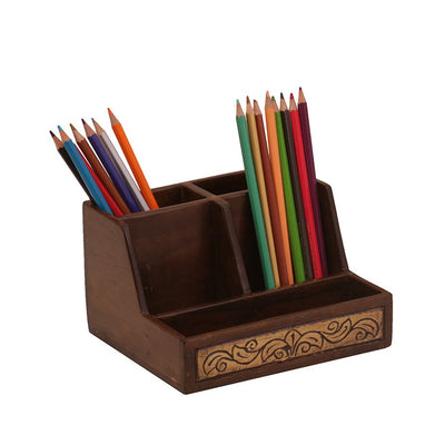 5-Slot Wooden Desk Organizer - Woodsala