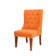 Classic Orange Winged Chair