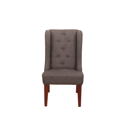 Grey Classic Winged Chair - Woodsala