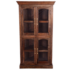 Vintage 4-tier Corner Display Cabinet - Woodsala