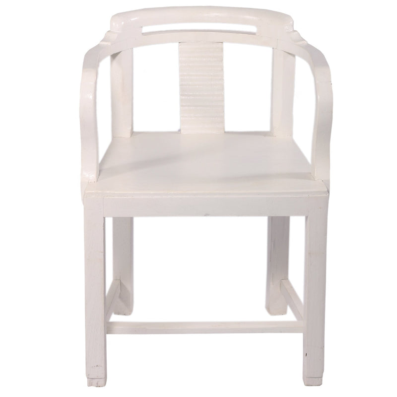 White Finish Arm Chair - Woodsala