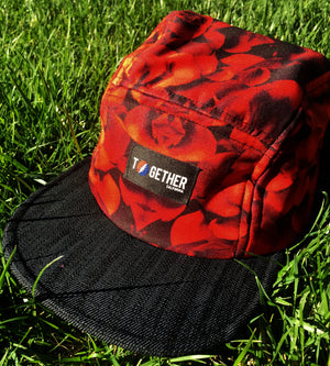 American Beauty Upcycled 4 Panel Hat