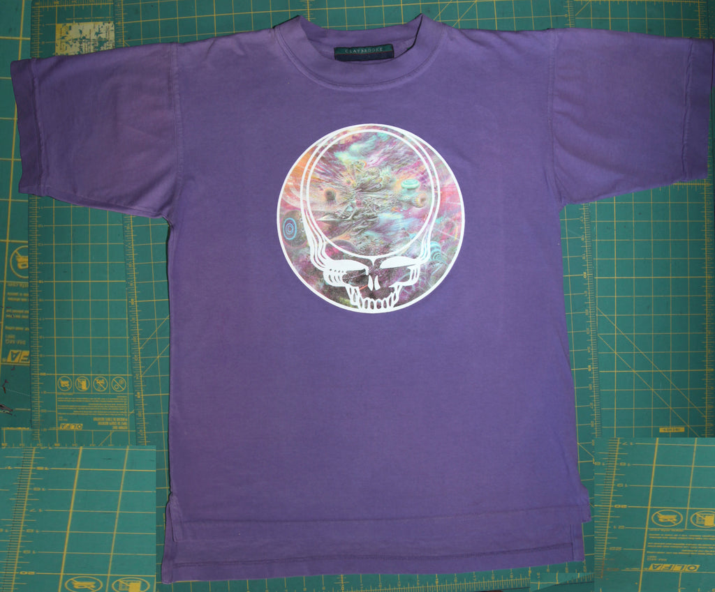 "Vintage Lavender Shirt with Mars-1 ""Invisible Domain"" Your Face"