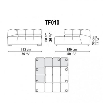 Deep Corner Half | Right Module | TF010