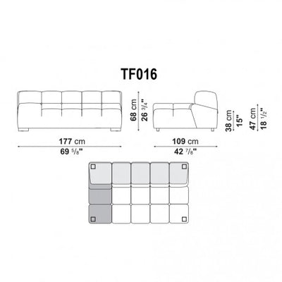 Extra Large Right Armrest | Right Module | TF016