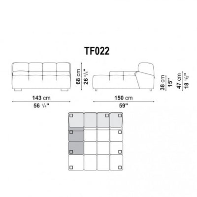 DEEP LARGE RIGHT ARMREST | RIGHT MODULE | TF022