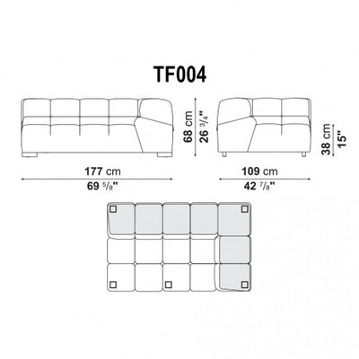 EXTRA LARGE LEFT CORNER | LEFT MODULE | TF004