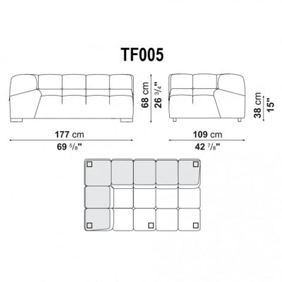 Extra Large Right Corner | Right Module | TF005