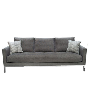 Chateau Sofa and Loveseat Collection in Azure Grey