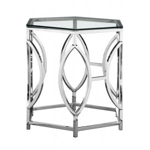 Arthur Side Table High Polish Steel