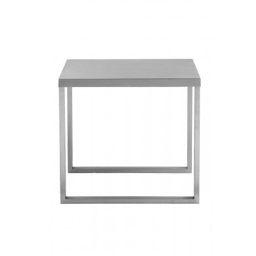 Clark Side Table Brushed Metal