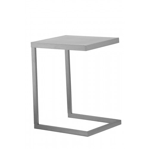 Clark Tray Table Brushed Metal