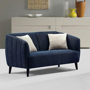 De Luca Sofa, Chair, and Loveseat Collection in Midnight Blue