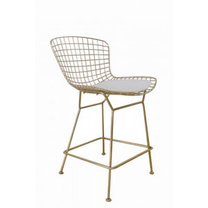 Gold Shuttle Counter Stool