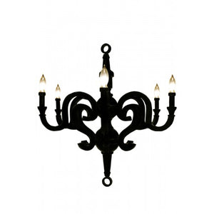 "Kristina Chandelier Large 35"" White"