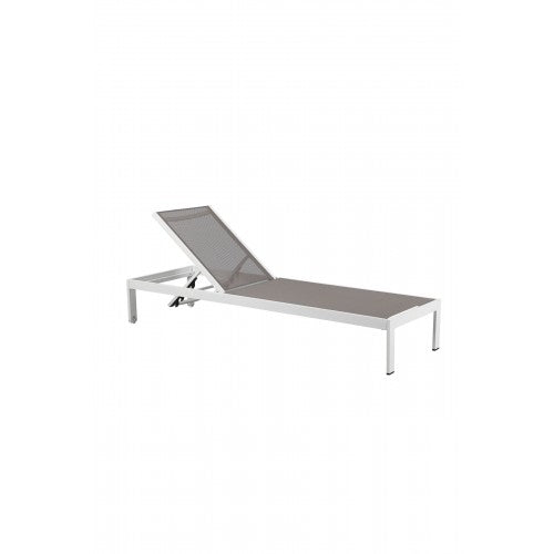 Sally Lounger White Frame