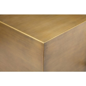 Spencer Side Table Brass- 16""