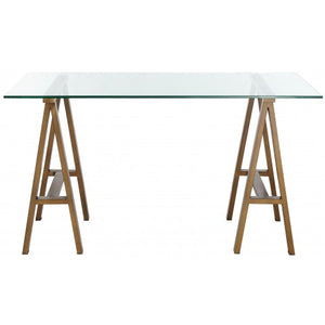 "Brady Desk 55"" Brass"