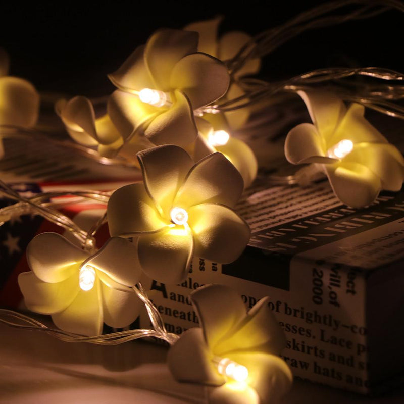 Led flower string light temple lumiere beautiful lit up yellow white flower string lights with a soft yellow glow mightylinksfo