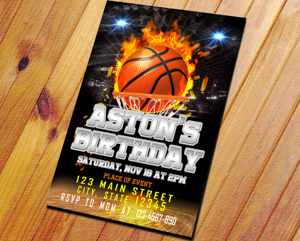 BASKET BALL INVITATION