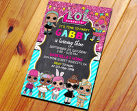 LOL SURPRISE DOLL  INVITATION