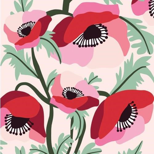 Kirsten Katz Greeting Card - Poppies